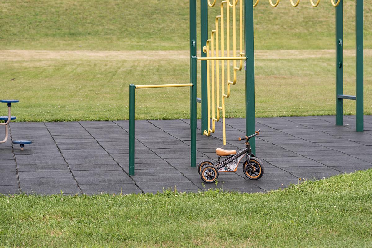 Bike in the playground