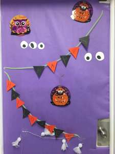 Halloween Decorated Door